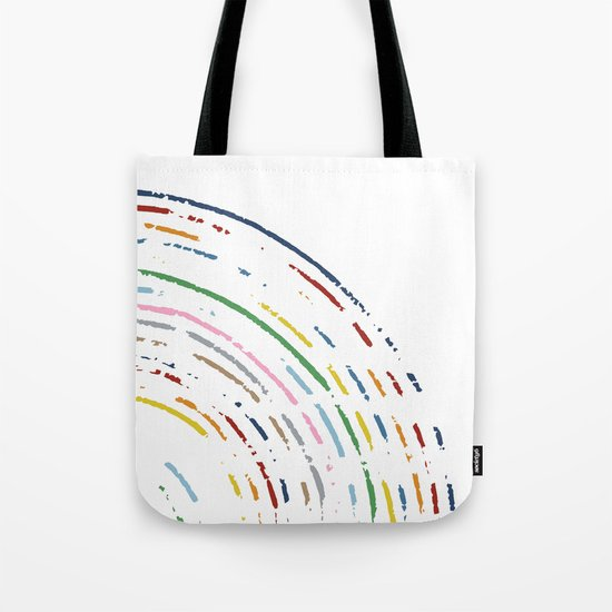 Rainbow Part Disc Tote Bag