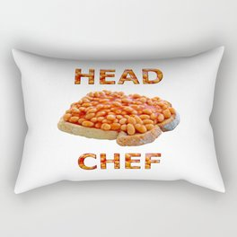 Head Chef Beans on Toast Rectangular Pillow