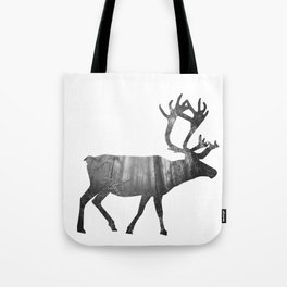 Moose Silhouette | Forest Photography Tote Bag