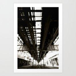 "Beneath the ""L"" Train - Chicago Art Print"