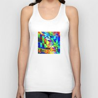 illusion Tank Tops featuring Illusion. by Assiyam