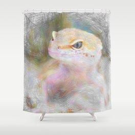 Artistic Animal Gekko Shower Curtain