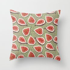 Figs Pattern Throw Pillow