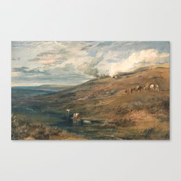 "J.M.W. Turner ""Dartmoor- The Source of the Tamar and the Torridge"" Canvas Print"