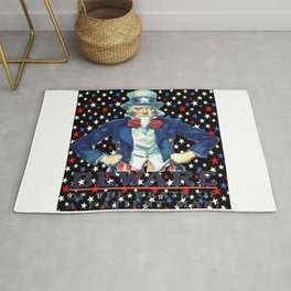 Beware The Wrath Of  A Patient Man Patriotic Star Rug