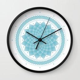 Water Flower Wall Clock