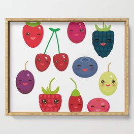 Kawaii Cherry Strawberry Raspberry Blackberry Blueberry Cranberry Cowberry Goji Grape Serving Tray