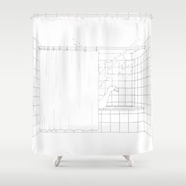 Hey, I'm showering! Shower Curtain