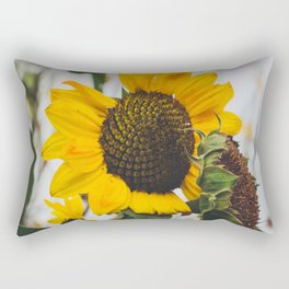 Sunflower Season Ends Rectangular Pillow