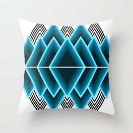blue triangle shapes Throw Pillow