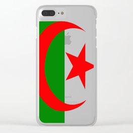 Flag of Algeria Clear iPhone Case