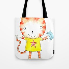 Ginger kitten watercolour Tote Bag