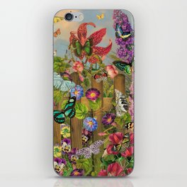 Butterfly Garden iPhone Skin