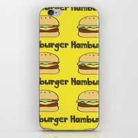 hamburger iPhone & iPod Skins featuring Hamburger by Kris Sung