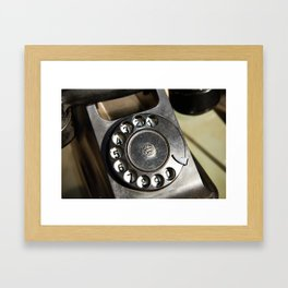 Retro rotary dial telephone Framed Art Print
