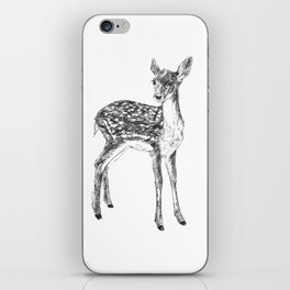 Ink drawing of a fawn iPhone Skin