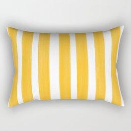 Sunny Yellow Paint Stripes Rectangular Pillow
