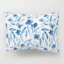 Prussian Floral Pillow Sham