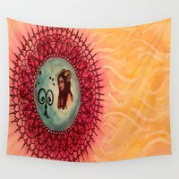aries Wall Tapestries featuring Aries by Jen Hallbrown