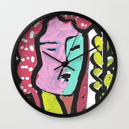 French Bus ticket recycled Art Portrait Wall Clock