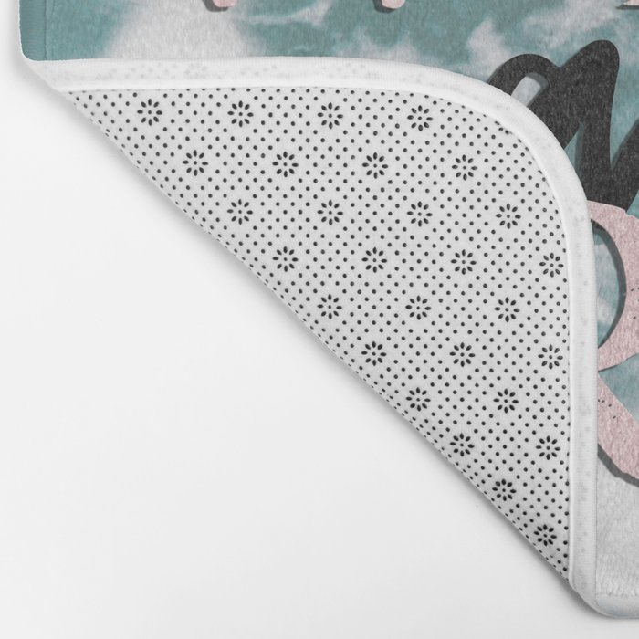 Wild and Free Waves in Rose Gold Bath Mat