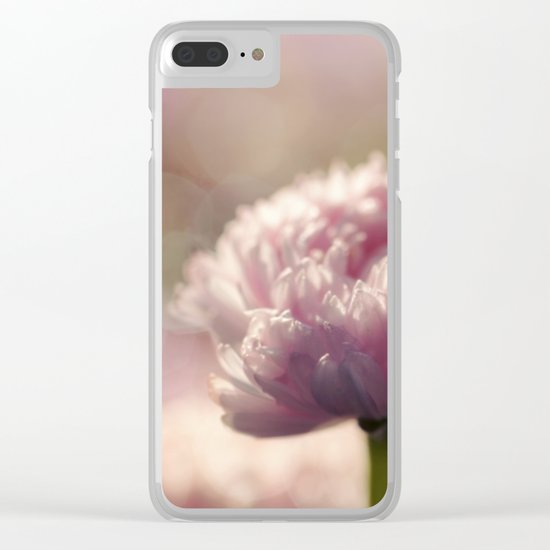 Daisy Flower Floral in Love Clear iPhone Case