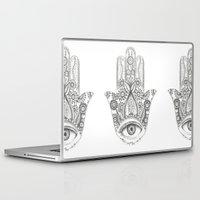 hamsa Laptop & iPad Skins featuring Hamsa by Erzaguri