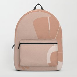 Minimal illustration of a Woman Backpack