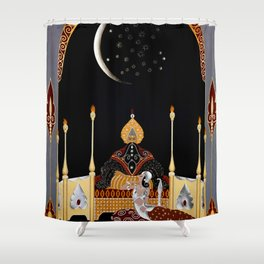 "Art Deco Exotic Design ""In the Casbah"" Shower Curtain"