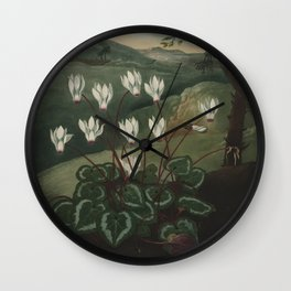 The Persian Cyclamen The Temple of Flora Wall Clock