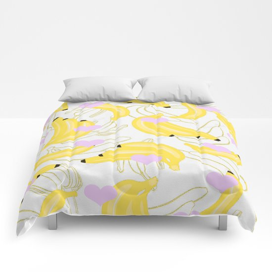 Bananas with love  Comforters