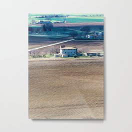 Panoramic view of the countryside of Umbria Metal Print