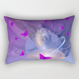 Birth of butterfly wishes Rectangular Pillow