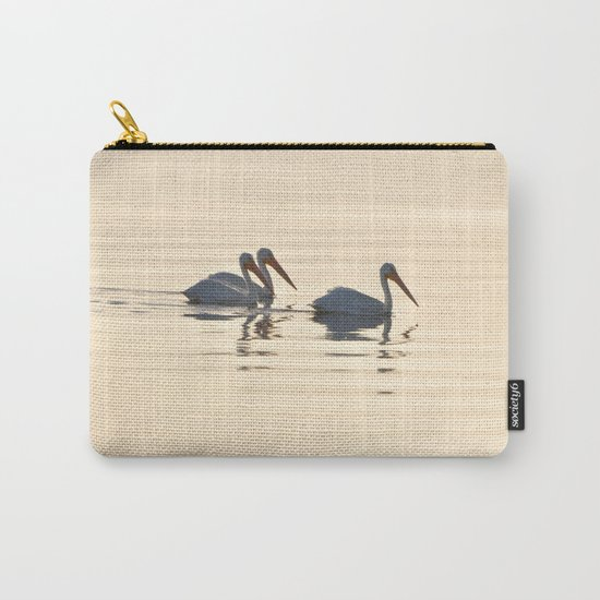 WHITE PELICANS ON THE SALTON SEA Carry-All Pouch