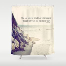 Filled with Longing Shower Curtain