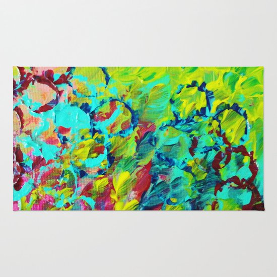 A Little Of This Bright Colorful Abstract Ocean Painting