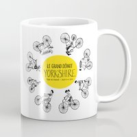 tour de france Mugs featuring Yorkshire Tour de France Grand Départ II by Holly Fisher@SpenceCreative