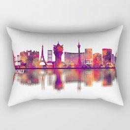 Macau China Skyline Rectangular Pillow