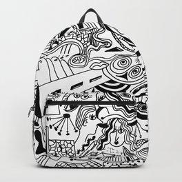 hand drawn doodle illustration Backpack