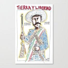 Emiliano Zapata Salazar Canvas Print
