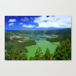 Lakes in Azores islands Canvas Print