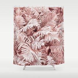 Fern Bush Blush Pink | Bedroom Art Shower Curtain