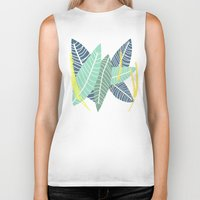 coconut wishes Biker Tanks featuring Coconut Blossom by Melanie Hodge