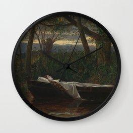 Walter Crane - The Lady of Shalott Wall Clock