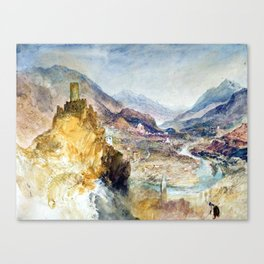 Joseph Mallord William Turner Chatel Argent Canvas Print