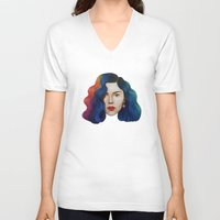 marina and the diamonds V-neck T-shirts featuring Marina by Cannibal Malabar