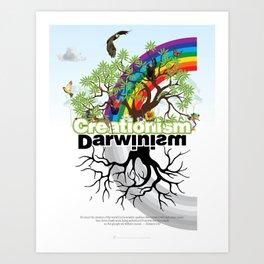 Creationism Darwinism Art Print