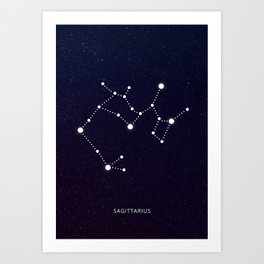 Sagittarius zodic sign Art Print
