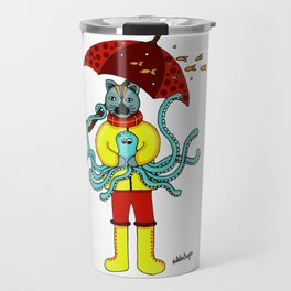 Gato en invierno Travel Mug