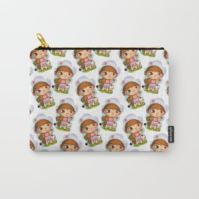 one eye positive thinking boy Carry-All Pouch